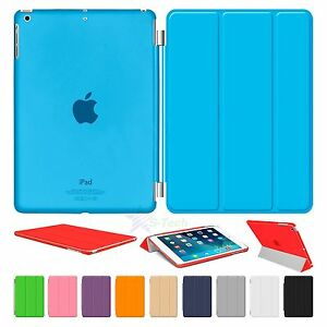"iPad 6th Generation 9.7"" Magnetic Smart Cover Transparent Back Case For Apple"