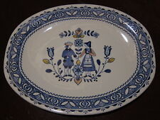 "JOHNSON BROTHERS HEARTS AND & FLOWERS 9 5/8"" X 12 1/4"" PLATTER"