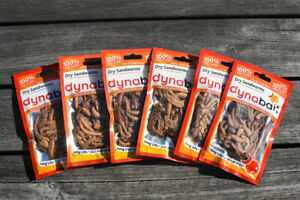 Dynabait Sand worms 6x fishing bait- no refrigerator needed, just add water
