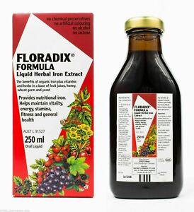 FLORADIX FORMULA  LIQUID HERBAL IRON EXTRACT 250ml EXP;-03/2022