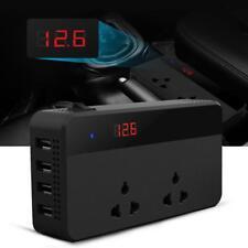Car Inverter Power DC 12V To AC 220V w/ 4 USB Socket Charger Cigarette Lighters