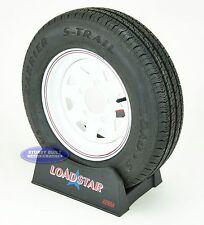 Kenda Loadstar Trailer Tire and Wheel ST145 R12 on White Spoke 5 Lug 8 Ply