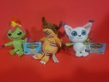 DIGIMON PLUSH MINI*GREYMON PALMON GATOMON* COLLECTIBLE ZAG TOYS *3pc*