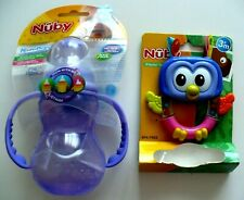 Nuby Non-Drip Standard Neck Bottles 7 Oz & Playful Teether BPA Free