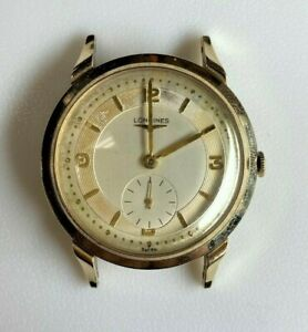 *Vintage Longines 23z 17J 10K Gold Filled Classic Mens Manual Wind Watch Working