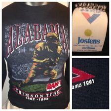 VTG Alabama Crimson Tide 1892-1992 Football Sweatshirt Mens M Jostens USA BAMA