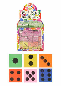 Soft Colorful Foam Large 3.8cm Dice Toy Game Party Bag Filler Games Class
