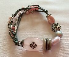 NEW (Ex Display) Silpada Reef Stretch Bracelet B2181 Pearls, Pink