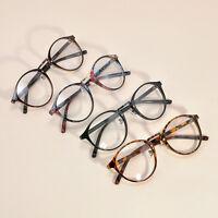 Men Women Unisex Vintage Clear Lens Eyeglasses Frame Retro Round Nerd Glasses E7