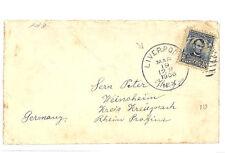 AB39 1906 USA TRANSATLANTIC *Liverpool NY* Cover Germany {samwells-covers}