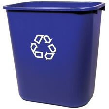Rubbermaid Commercial Products Blue Recycling Bin Garbage Recycle Waste Indoor