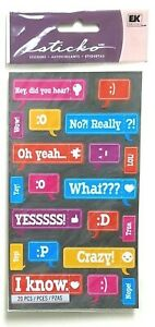 CAPTIONS Bubble Texts Emojis Crazy Yesss Really What Wow Hear Sticko Stickers