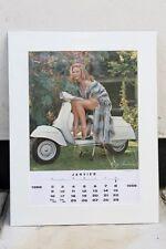 VESPA PIAGGIO Vintage JANUARY 1966 Calendar 60s MODS GS160 SCOOTER Elga Andersen