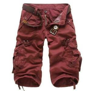 Mens Cargo Short Pants Military Army Combat Pants Work  Casual Trousers