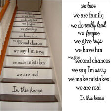 LARGE STAIRS IN THIS HOUSE RULES  FAMILY WE LOVE  STAIR RISER STICKERS DECAL