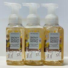 3-Pack Bath & Body Works SNOWY PEACH BERRY Gentle Foaming Hand Soap 8.75 fl.oz