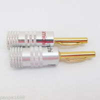 20pcs Nakamichi Gold 4mm Banana Plug EU Type Screw Connectors for Speaker Cable