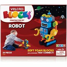 "Velcro Blocks Construction Set Robot 6""Wx5-1/10""Lx8- 9/10""H Multi 70189"