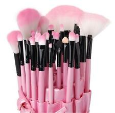 Pink 32PCS Cosmetic Makeup Brushes Brush Set Leather Case Make Up Kit UK
