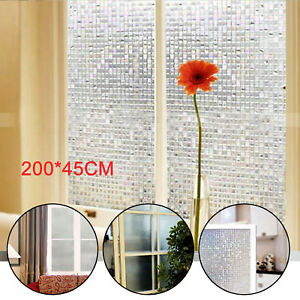 Prevents UV light Premium Privacy 3D Reflective Frosted Window Film Glass Vinyl