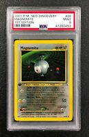 Magnemite 26/75 Neo Genesis Rare POKEMON Card 1st Edition PSA 9 MINT