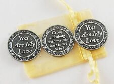 You Are My Love Pocket Tokens set of 3 with Organza Bag