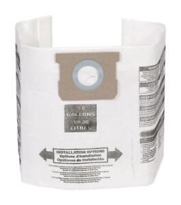Craftsman 00938767 Filter Bag Fits 5-6-8 Gal Dry SIDE Only (3 pack) SHOP-VAC