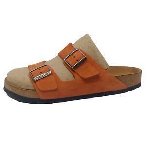 Birkenstock Arizona Sandals 42 US Men 9-9.5 Woman 11.5-12 Rust Suede Leather EUC