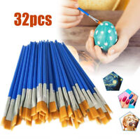 32pcs Paint Brushes Set Acrylic Oil Watercolour Painting Craft Art Model