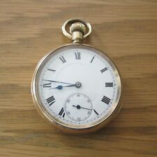 COLLECTABLE VINTAGE 1920's AMROK GOLD PLATED POCKET WATCH