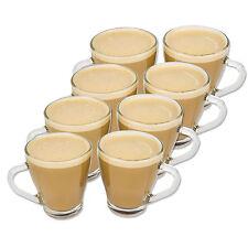 8X TAZZE VETRO CHIARO 350ML NUOVO Tisane calde caffè CIOCCOLATO LATTE CAPPUCINO