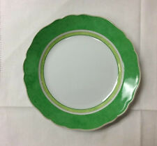 "HUTSCHENREUTHER SUMMERDREAM GREEN BREAD PLATE 6 3/4"" PORCELAIN NEW  GERMANY"