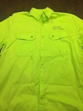 Reel Legends Men's Medium Short Sleeve Fishing Shirt Lime Green