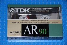 TDK  AR   90     1988          BLANK CASSETTE TAPE (1)   (SEALED)