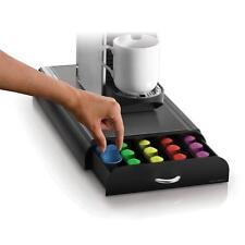 Nespresso Capsule Storage Drawer Countertop Coffee Holder Tray 50-Capacity Black
