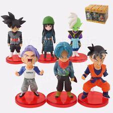 6pcs Dragon Ball Z Goku-black Mye Zamasu Trunks Gohan 6cm-8cm PVC Figure WB