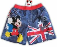 Boys Size 8 Mickey Mouse Shorts with in-built undies ~ NEW ~ MBC