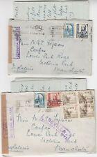 España 1937 2x censurado cubre * SEVILLA-Manchester * con Sevilla censor militar