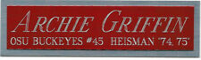 ARCHIE GRIFFIN HEISMAN NAMEPLATE AUTOGRAPHED Signed Football HELMET JERSEY PHOTO