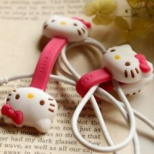 Earphone cord Wrap HelloKitty Organizer Holders winders Cable Tidy Wires Safe