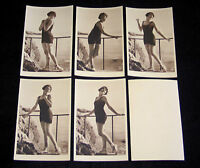 LOT 5 CPA 410 BAIGNEUSE ART DECO MISS PIN-UP NUE NUDE FLAPPERS BATHING BEAUTY