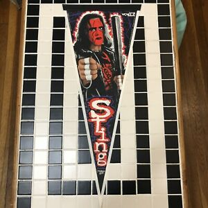 Sting Steve Borden Authentic WCW nWo 1997 Pennant WWF WWE AEW Rare Vintage