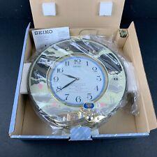 Seiko Melodies In Motion Wall Clock QXM114NRH Gold Tone Disney Songs Rare HTF
