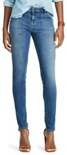 Chaps Madden Slim Leg Super Stretch Denim Blue Jeans - Womens 4R 30 - New w/Tags