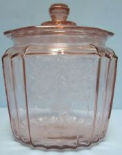 Pink Depression Biscuit Jar Mayfair