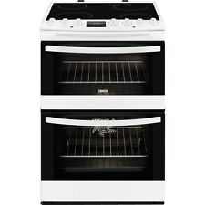 Zanussi ZCV68330WA Slot in 60cm White Double Oven Electric Ceramic Cooker Grill
