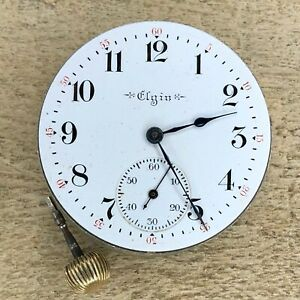 16s Elgin Pocket Watch Movement - Grade 306 - 15 Jewels, Three Finger Bridge