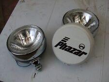 """VINTAGE HALOGEN 7"""" SPOTLIGHTS  CONCAVE LENS RING HR309 PHAZAR BIG LAMPS"""