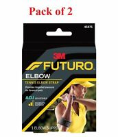 Futuro Tennis Elbow Strap Adjustable Moderate Support 1 Each (Pack of 2)