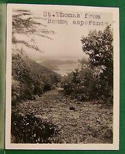 OLD 1937 VIRGIN ISLANDS ST THOMAS FT-DE-FRANCE SWIMMING ON S.S. ROTTERDAM PHOTO